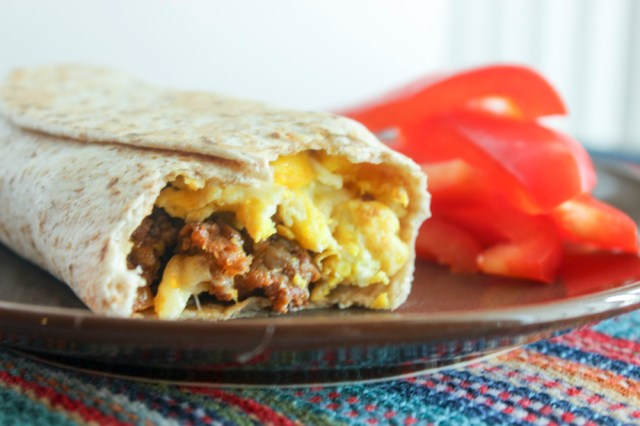 Eggy Wrap with Chorizo