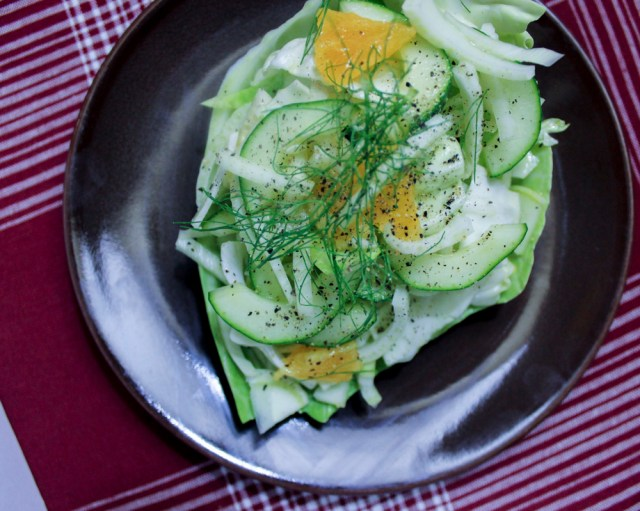 Fennel-Cabbage Salad with Orange Vinaigrette