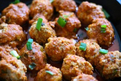 Instant Pot Buffalo Chicken Meatballs