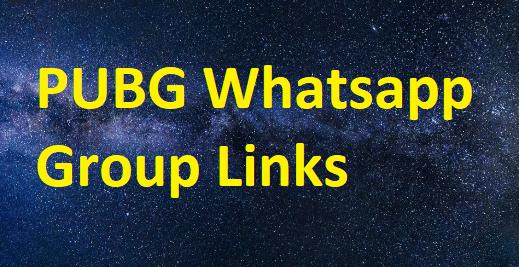 pubg whatsapp group links
