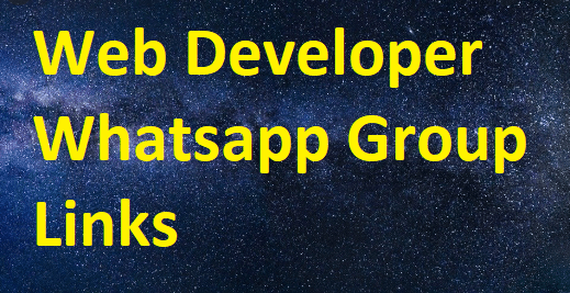 Web Developer Whatsapp Group Links