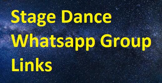stage dance whatsapp group links