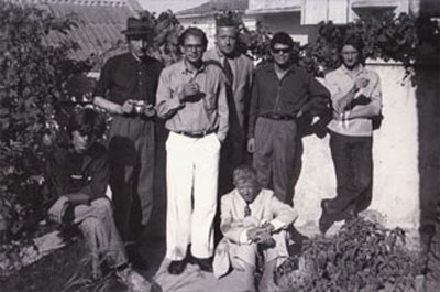 William S. Burroughs, Allen Ginsberg, Alan Ansen, Gregory Corso, Ian Summerville, Peter Orlovsky, Paul Bowles, Tangiers, 1957