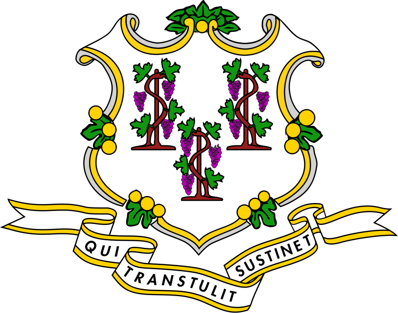 National Coat arms of Connecticut
