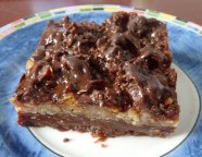 awesome german chocolate brownie from Wegman's
