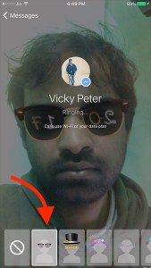 Apply Effects or filters on Messenger Video Call