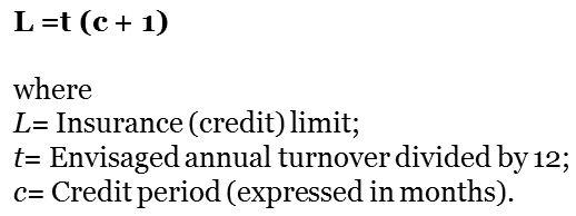credit-insurance-limit-formula