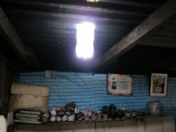 Bringing light to dark places, with a recycled bottle, water and chlorine.