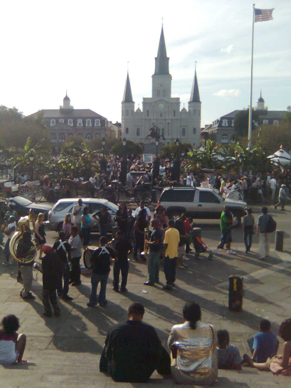 Crowds at French Quarter Fest