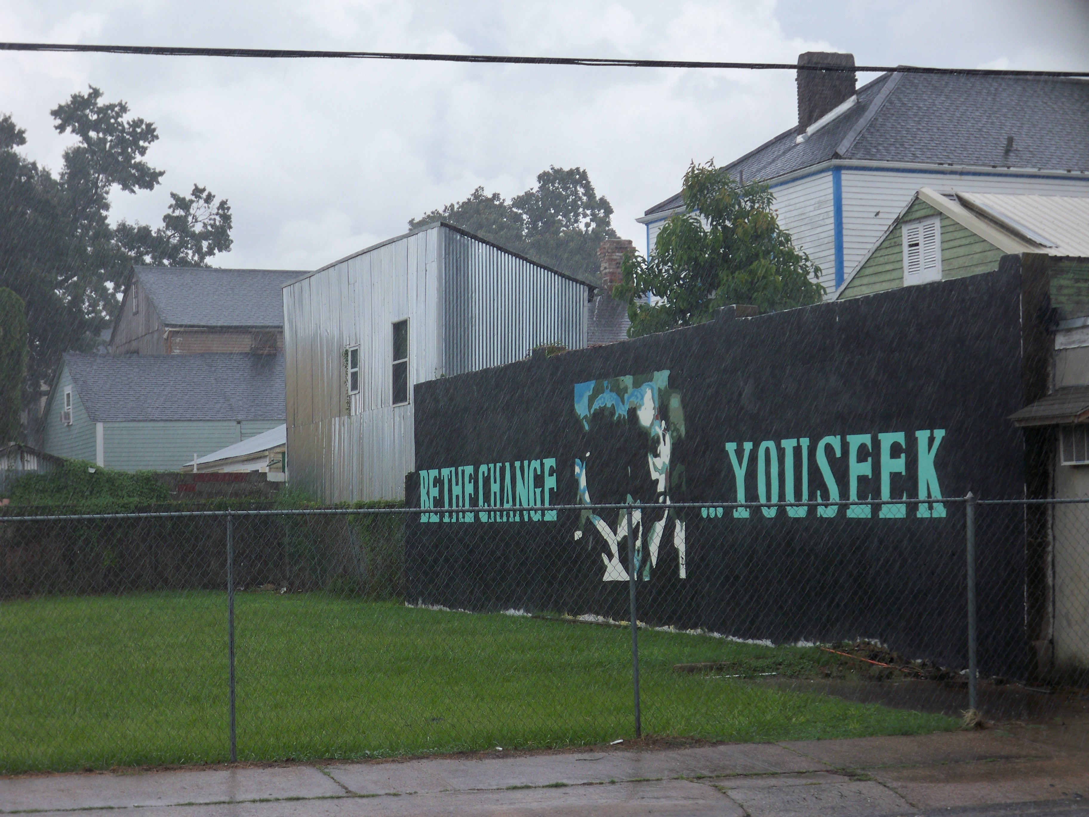Be The Change You Seek Mural at Baronne and First