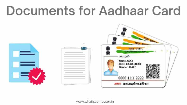 Documents Required for Aadhaar Card