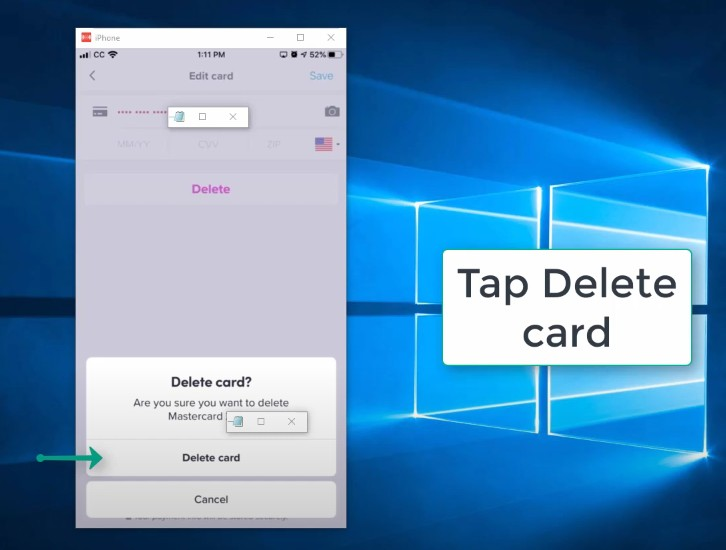 Step 5: How to Remove a Credit Card from Lyft Step by Step