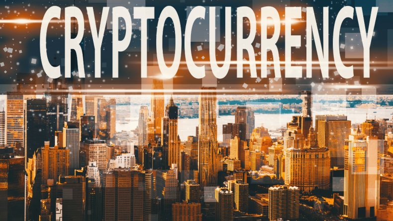 cryptocurrency with buildings