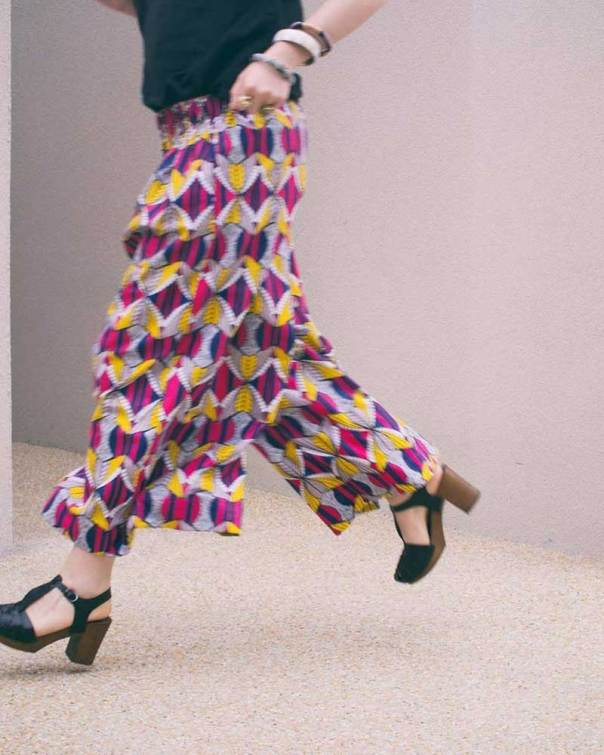 African Wax Culottes