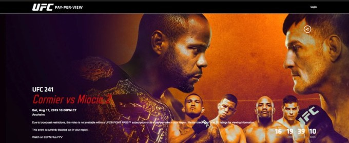 UFC 241 in the US