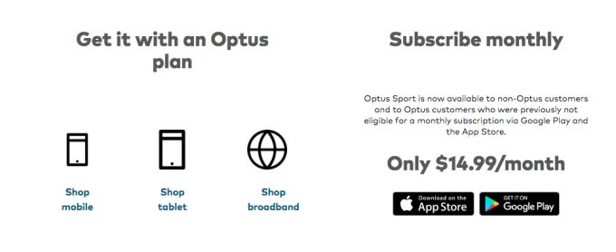 Optus Subscription
