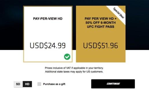 UFC Price in Hong Kong