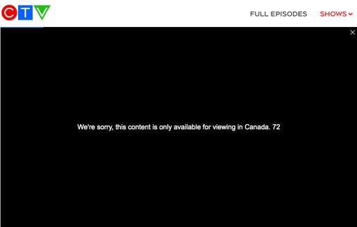 CTV Error