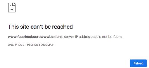 Facebook .onion Chrome