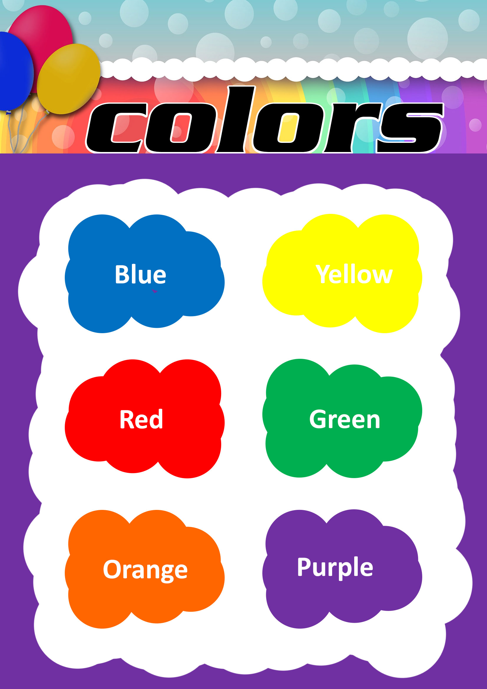 Color Chart For Kindergarten