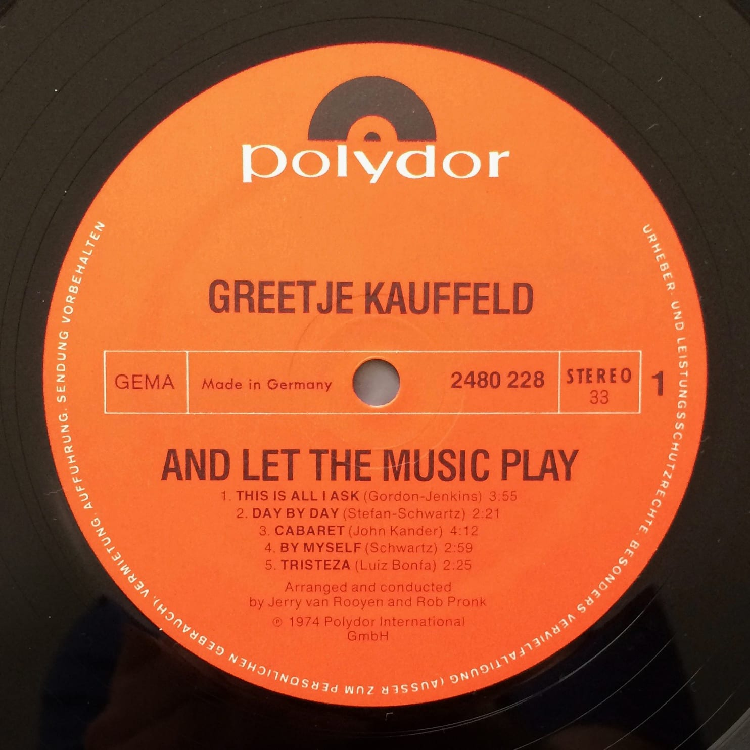 Greetje Kauffeld ‎– And Let The Music Play
