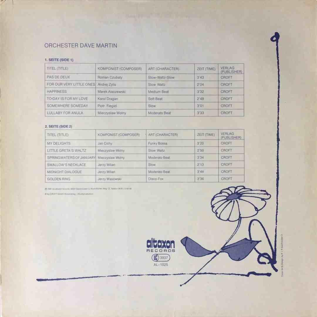Orchester Dave Martin – Musik Für Schöne Stunden