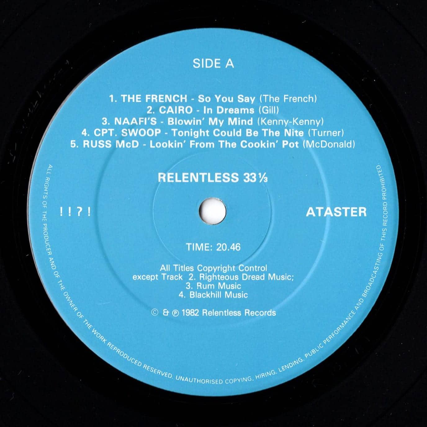 """!!?!"" ... a taster! – Relentless Records – R101 UK 1982"
