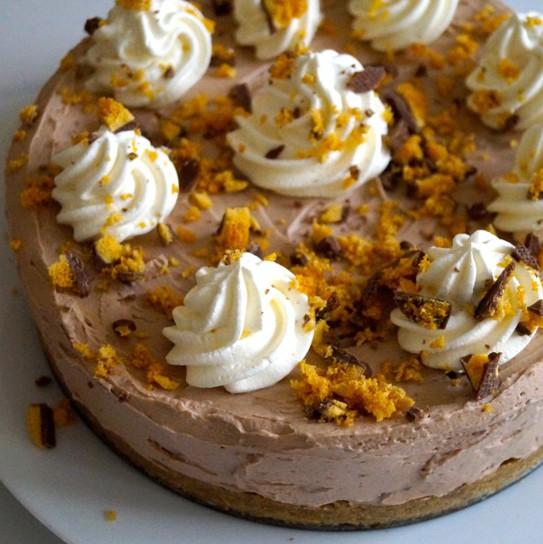 honeycomb chocolate cheese cake