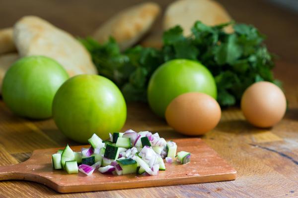 Fried Green Tomato Sabich