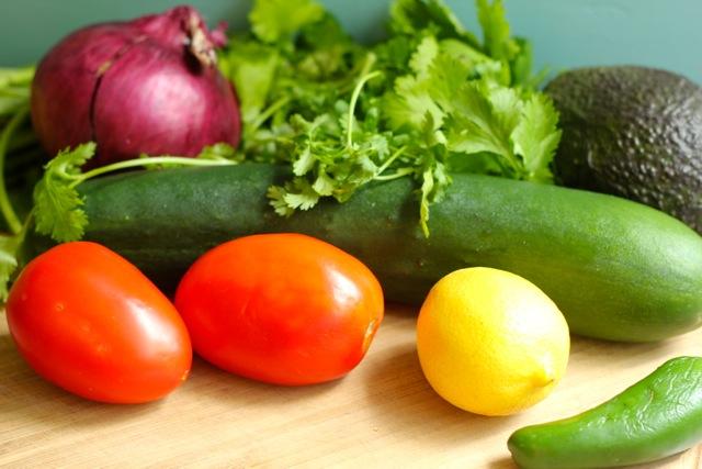 Avocado Amaranth Israeli Salad