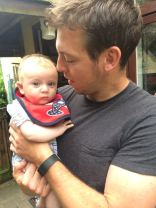 4.50pm: Sonny Jim and his godfather-to-be, Uncle Rich
