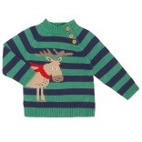 Stripe Moose Jumper