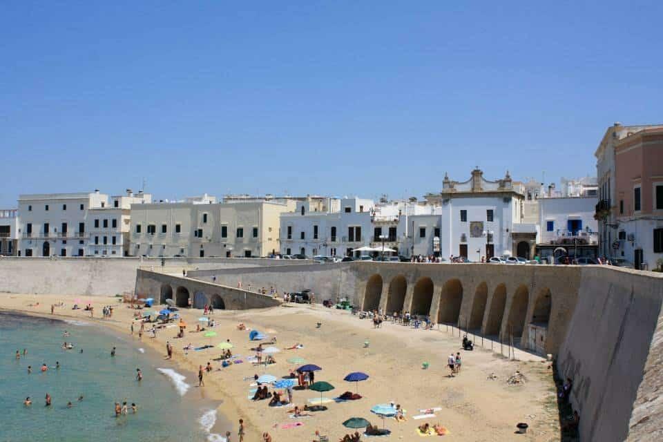 Gallipoli old town beach