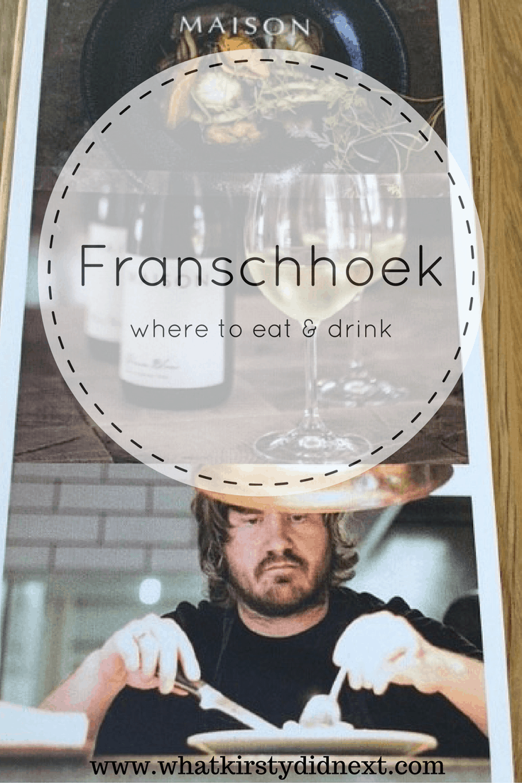 Wining and dining in Franschhoek