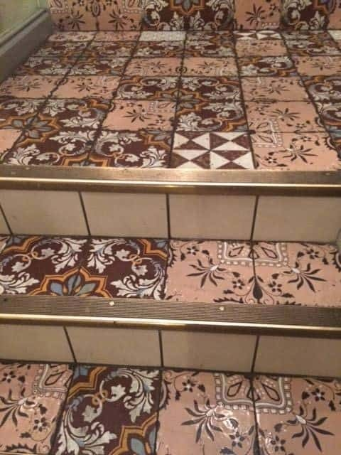 Mele e Pere tiled stairs