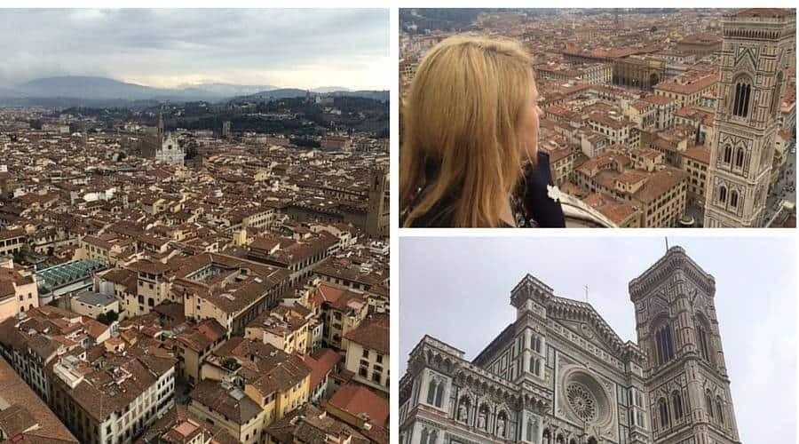 Views from the Duomo dome in Florence