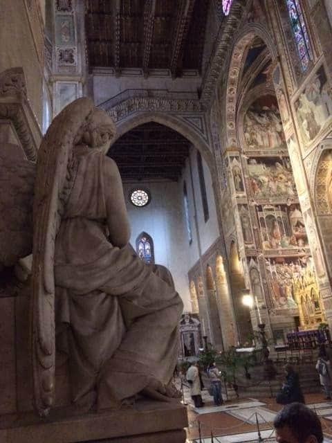 Angel sculpture Santa Croce