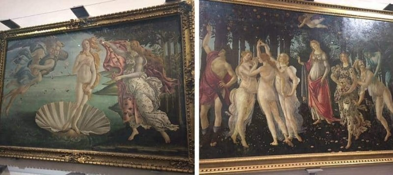 Botticelli art in Uffizi Florence