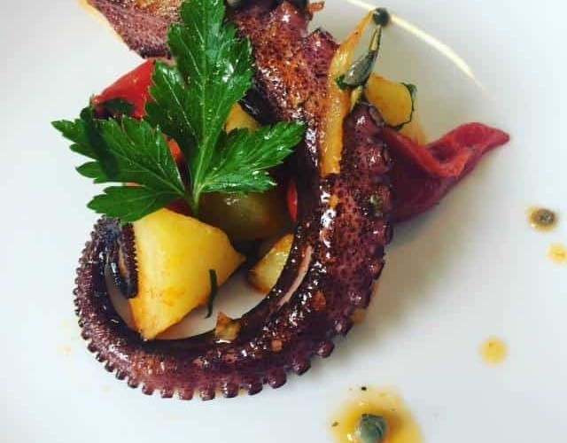 Octopus starter at Osteria