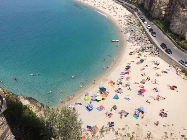 Tropea beach from above