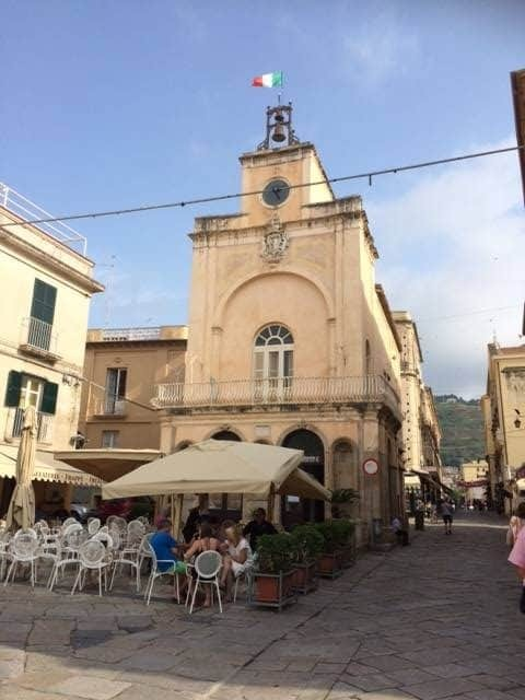 Tropea town with church
