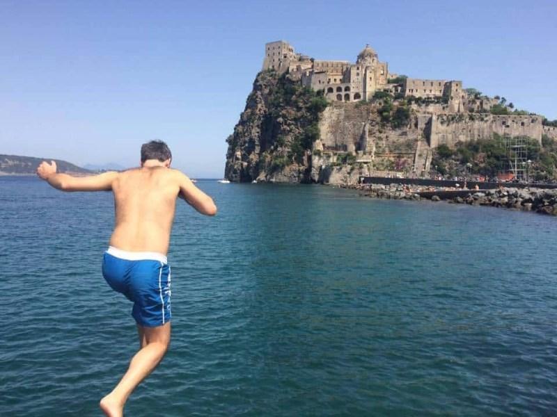 Castello Aragonese in Ischia Italy