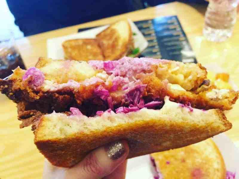 Fried chicken sandwich from Melt Shop in New York