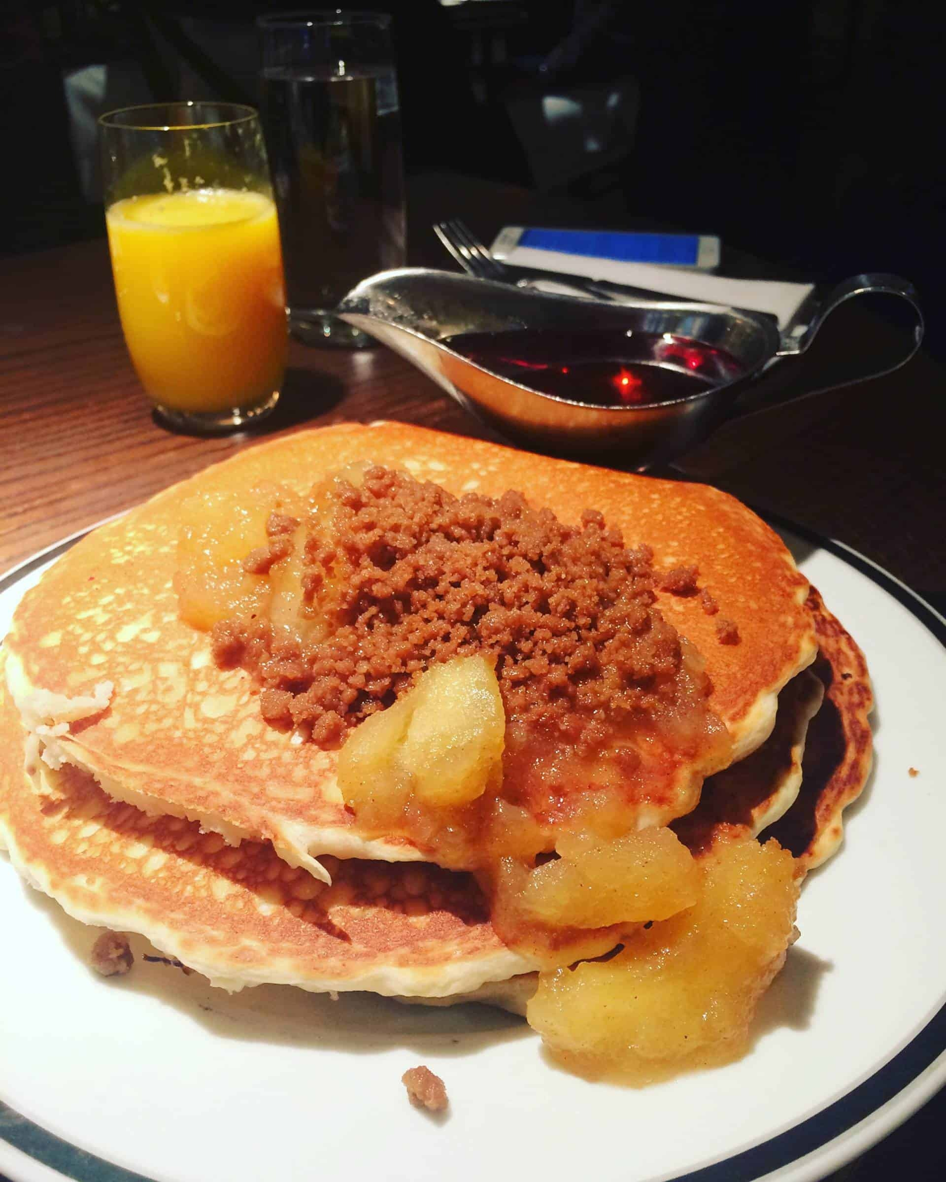 Pancakes with apple at The National