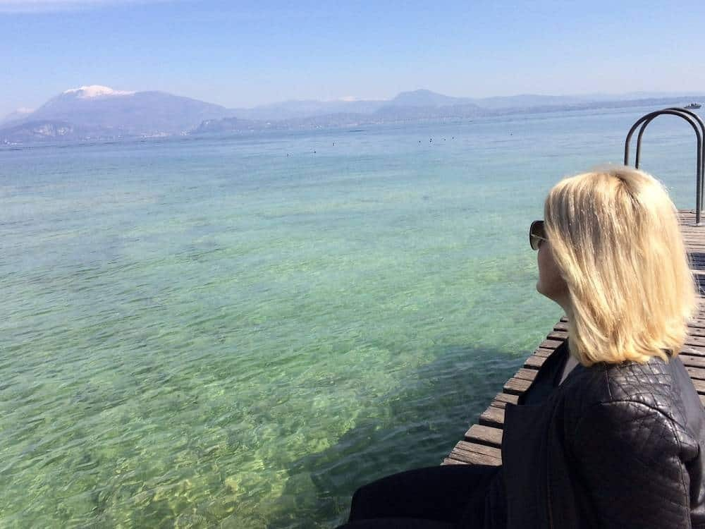 Lake Garda pier in Sirmione