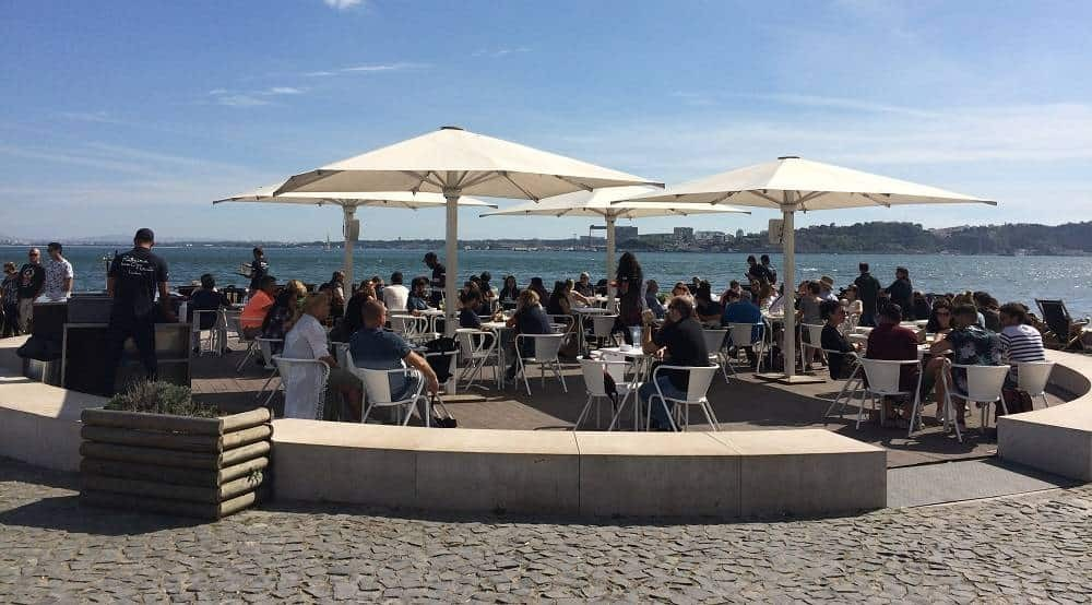 Cafe along Lisbon's riverside