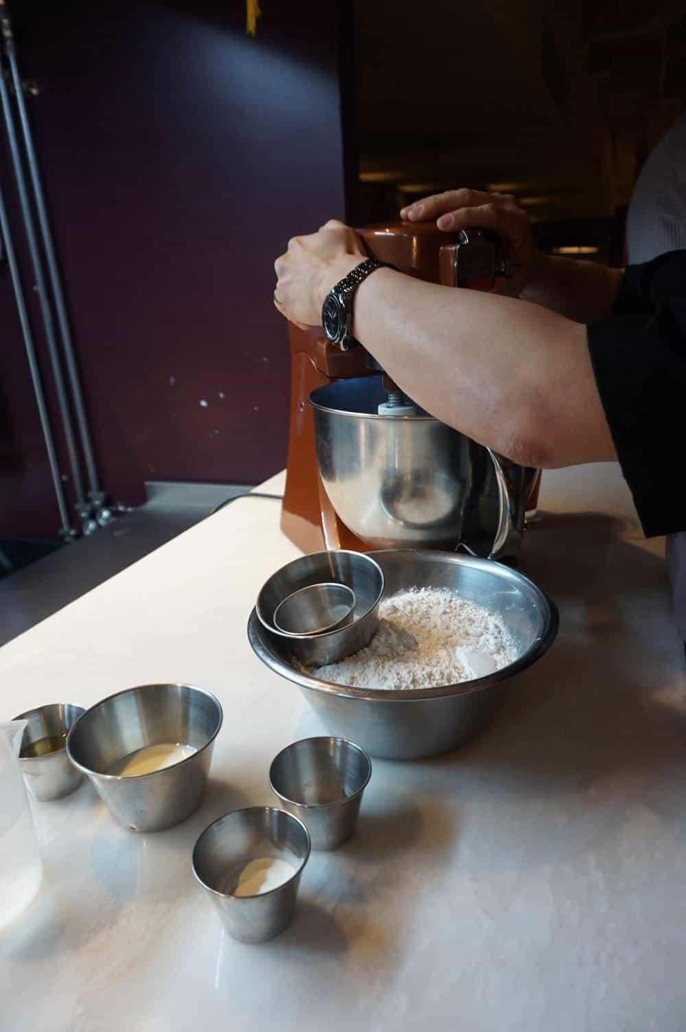 Making Bao dough