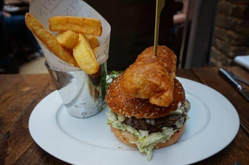 Galvin HOP Deluxe hamburger