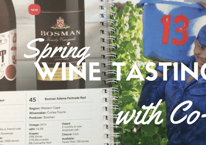 Spring wine tasting with co-op