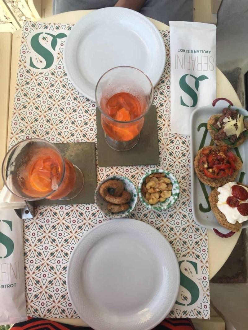 Enjoying aperitivo at Serafini